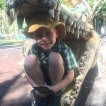 child at Australia zoo