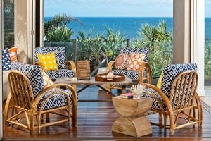 Seating overlooking sea view