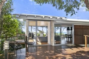 From the outer deck looking into 12 Seaview Terrace Sunshine Beach