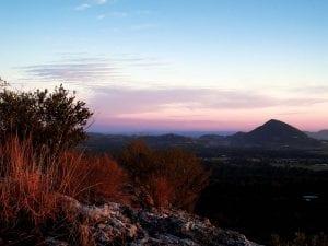 mount tinbeerwah at sunset