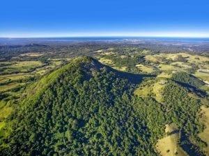 aerial of noosa hinterland
